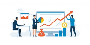 Business team and successful digital marketing strategy